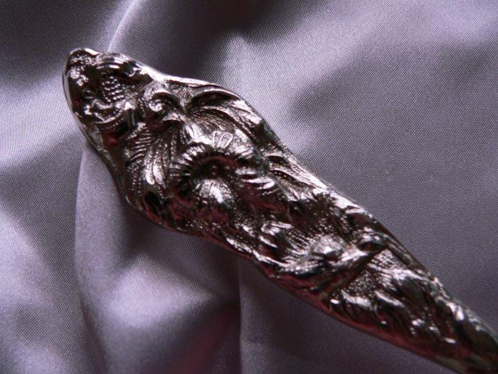 SALE! RAIMOND SILVER PIE / CAKE Silverplate SERVER ART NOUVEAU Floral handle