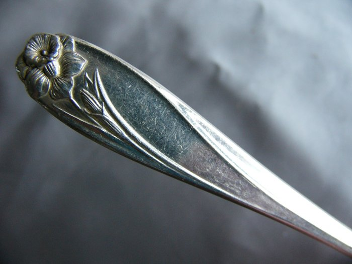 DAFFODIL Silverplate SUGAR SIFTER SLOTTED by 1847 ROGERS  International IS