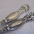 FRONTENAC Sterling LILY 5 O'CLOCK TEASPOONS INTERNATIONAL SIMPSON HALL 1903  LAN mono