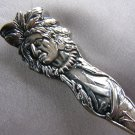 NATIVE AMERICAN INDIAN Spirit Medicine Man Maize Canoe Sterling Souvenir spoon by MANCHESTER