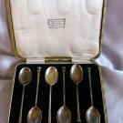 SALE -- WILLIAM DRUMMOND Sterling COFFEE Spoon Set of 6 in BOX MELBOURNE AUSTRALIA