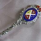 MONTREAL CONCORDIA SALUS Enamel Crown Embossed Skyline 1902 Sterling Souvenir spoon CANADA