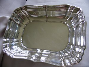 SCRAP VALUE -  GORHAM Sterling  10 5/8 in. VEGETABLE SERVING BOWL CHIPPENDALE Style No 768