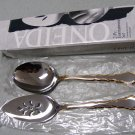 GOLDEN ROYAL CHIPPENDALE Stainless 2 pc ENTERTAINMENT SET Casserole Pie Servers by ONEIDA HEIRLOOM