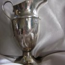 Sterling HAND CHASED Floral design CREAMER by FRIEDMAN SILVER CO. Pilgrim Art Deco S mono