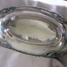 WALLACE Silverplate ART DECO FRUIT or BREAD BOWL Pierced Leaf & Grape Cluster design with Rope edge