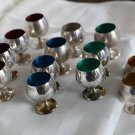 SALE!! GORHAM Sterling LIQUOR CUPS CORDIALS with COLORED ENAMEL Linings