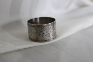 Sterling Hand Engraved NAPKIN RING circa 1875 N.G. WOOD & SON