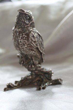 SALE ** Sterling OWL Figurine