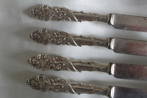 COLUMBIA Silver Plate FRUIT KNIFE KNIVES by 1847 ROGERS BROS. NO mono