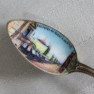 ARGENTINA Recuerdo del Rosario Sta Fe SOUVENIR GERMAN 800 Silver DEMITASSE Spoon ENAMELED