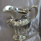$100 OFF!   ENGRAVED ART DECO Style Sterling WATER PITCHER by National Silver NSCo Script monogram