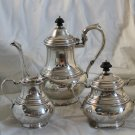 STERLING  3 pc TEA SET Sugar Creamer similar to Exemplar T MONO