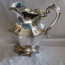 FRANK SMITH Sterling OCTAGONAL FORM WATER PITCHER Script monogram E T S