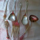 PIERCED HANDLE Sterling LOT OF 6 SERVING PIECES by MANCHESTER Silver