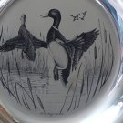 SALE * MALLARDS - Franklin Mint STERLING SILVER Limited Collectors BIRD Plate Richard Evans Younger