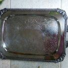 Silver Plated footed SERVING TRAY