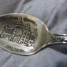DES MOINES IOWA Sterling SOUVENIR spoon by JOSEPH & SON Fort Drake U Highland Park Soldiers Sailors