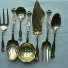 DRESDEN Lot of 41 Pieces Sterling FORKS SPOONS SERVING PIECES by Whiting