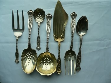 $125 OFF!  DRESDEN Lot of 40 Pieces Sterling FORKS SPOONS SERVING PIECES by Whiting