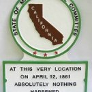 CA State Histerical Marker Small Handpainted