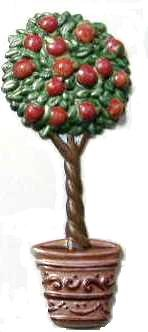 Apple Tree | Refrigerator Magnet | Handpainted Magnets | Tree Magnets