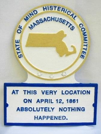 MA State Histerical Marker Small Handpainted