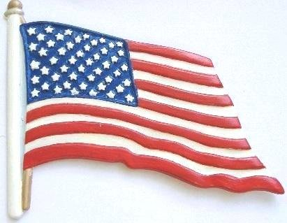 American Flag   Refrigerator Magnet   Hand-Painted Gifts   Decor
