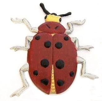 Ladybug   Refrigerator Magnet   Handpainted Magnets   Insect Magnets