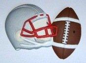 Football and Helmet | Refrigerator Magnet | Handpainted Magnets | Football Magnets