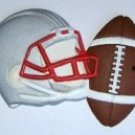 Football and Helmet | Ornament | Hand-Painted Gifts | Decor