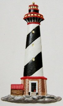 Lighthouse | Ornament | Hand-Painted Gifts | Decor