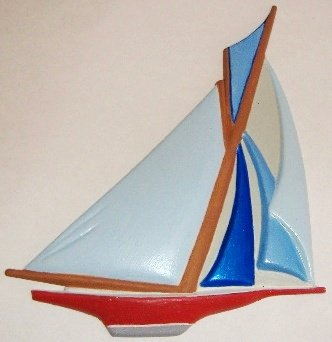 Sailboat | Refrigerator Magnet | Handpainted Magnets | Boat Magnets