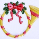 Holiday Horn | Christmas Ornament | Hand-Painted Gifts | Decor