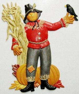 Scarecrow Ornament, Custom Hand-Painted Gifts, Decor