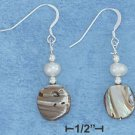 Sterling Silver Abalone & Freshwater Pearl Earrings