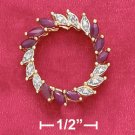 Sterling Silver Ruby & Illusion Setting Marquise Heart Wreath