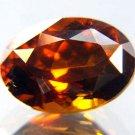 9803 Reddish Orange Zircon Natural 3.86 cts A Stunning Beauty!!