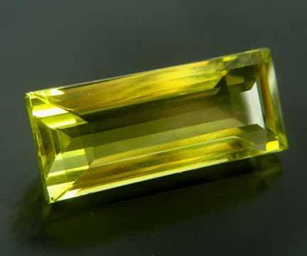 Lime Citrine Medium Yellow Green 19.87 cts 12509