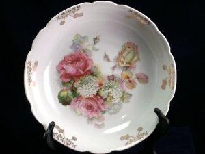 Schwartzenhammer Bavaria Germany Schumann and Schreider pink yellow rose bowl
