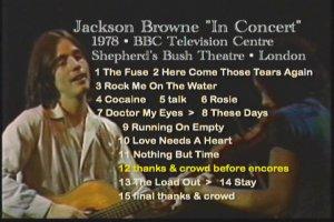 Jackson Browne BBC 1978 With David Lindley