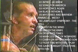 Kansas Freaks Of Nature Tour 1995