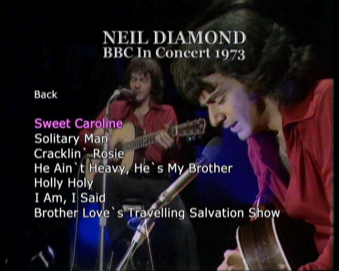 Neil Diamond Live Solo Acoustic DVD 1973