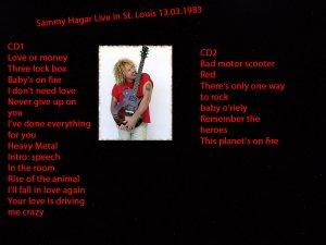 Sammy Hager Of Van Halen 2 CD Live Set