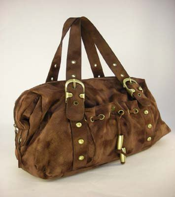 DESIGNER INSPIRED NWT BROWN SUEDE PURSE/HANDBAG!~WOW!!!