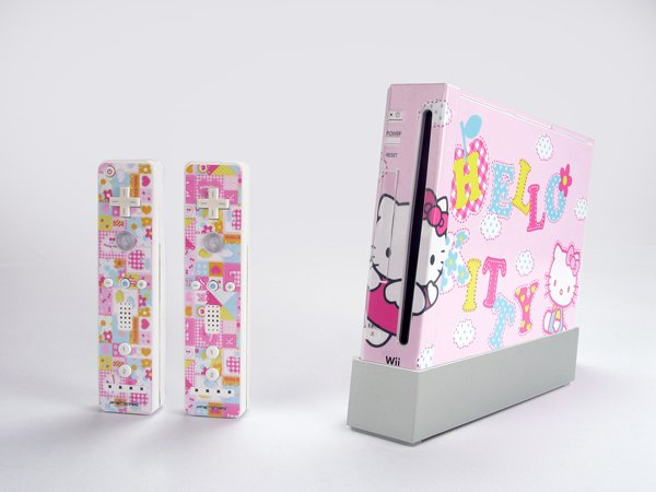 Nintendo Wii VINYL SKIN Hello kitty 10