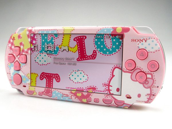 VINYL SKIN for Sony regular PSP Hello Kitty  2Sets 01