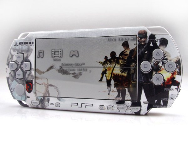 VINYL SKIN for Sony regular PSP Metal Gear Solid and Pirates of the Caribbean 2Sets 04