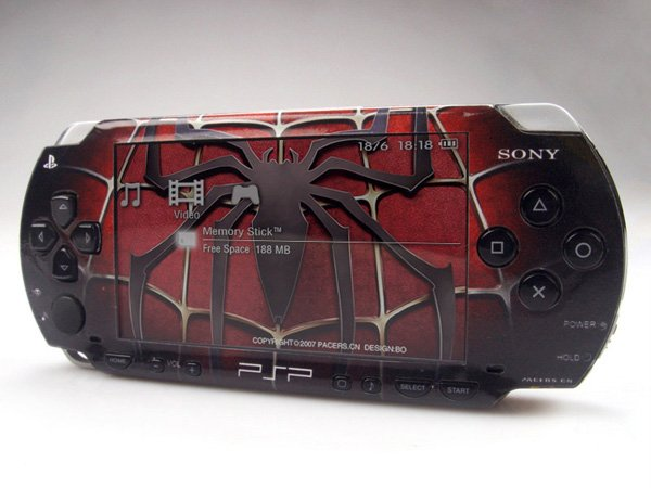 VINYL SKIN for Sony regular PSP Spiderman 2Sets 06