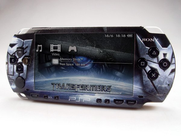 VINYL SKIN for Sony regular PSP Transformers 2Sets 07